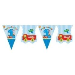 1st Birthday Fun To Be One Boy Party Flag Banner