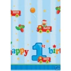1st Birthday Fun To Be One Boy Party Tablecover